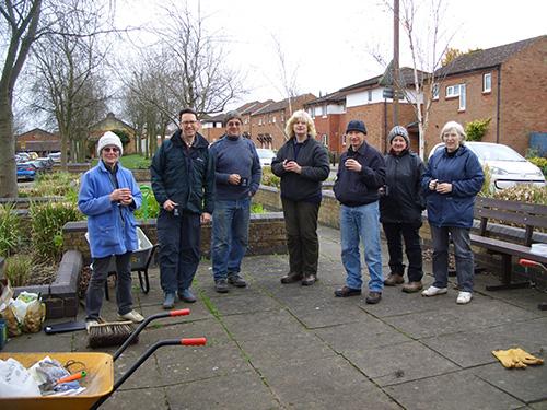 Our volunteers enjoying a well earned break!
