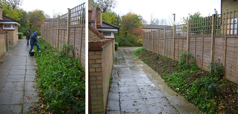 The link between Kepwick and Capian Walk, during and after our project work – a start, but still much work to do